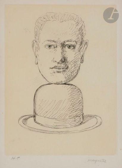 René MAGRITTE [belge] (1898-1967) Sans titre...