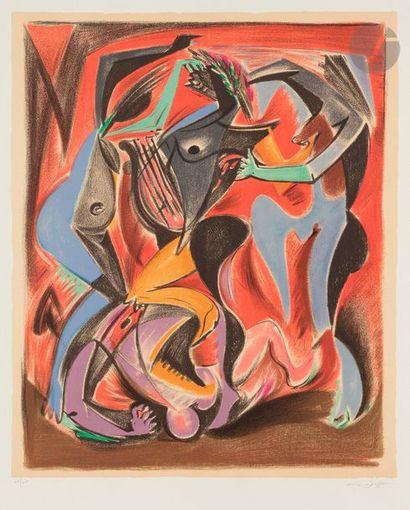 André MASSON (1896-1987) Orphée, 1972 Lithographie...