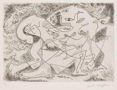 André MASSON (1896-1987) Sujets divers, vers...