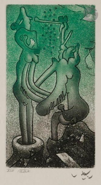 Roberto MATTA [chilien] (1911-2002) Fous...