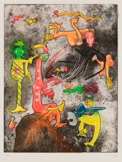 Roberto MATTA [chilien] (1911-2002) Personnages...