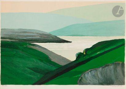 Roger MÜHL (1929-2008) Le Lac de Saint-Cassien,...