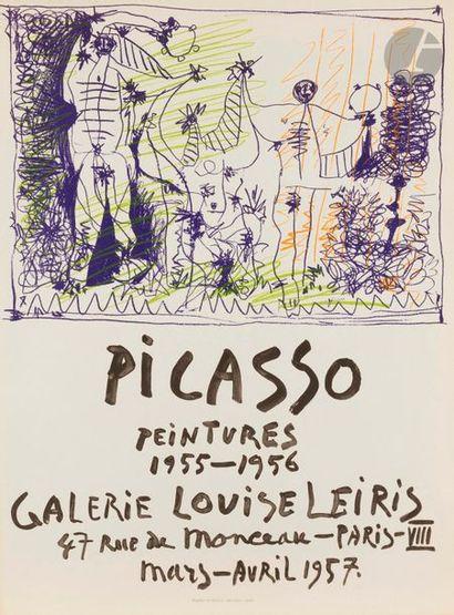 Pablo PICASSO (1881-1973) Picasso peintures 1955-1956 (affiche pour une exposition...