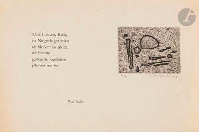Gisèle CELAN-LESTRANGE (1927-1991) Composition...