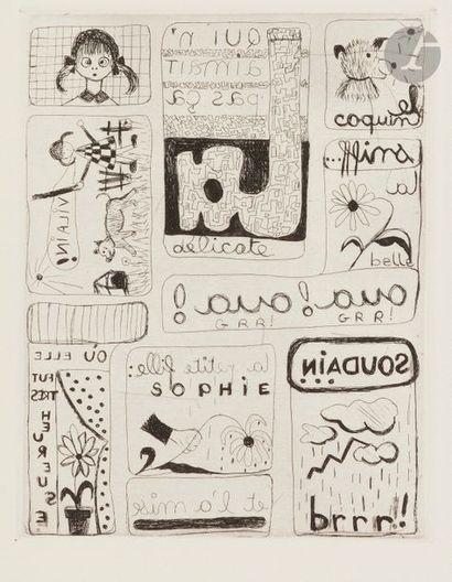 Micheline HACHETTE (1938-1993) Composition...