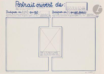 Maurice LEMAÎTRE (1926-2018) Portrait ouvert...