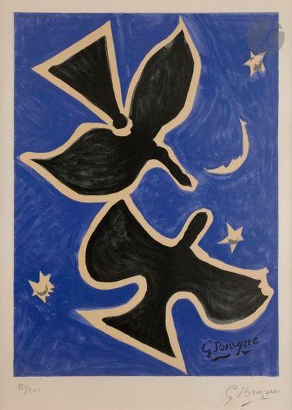 Georges BRAQUE (1882-1963) (d'après) Oiseaux...