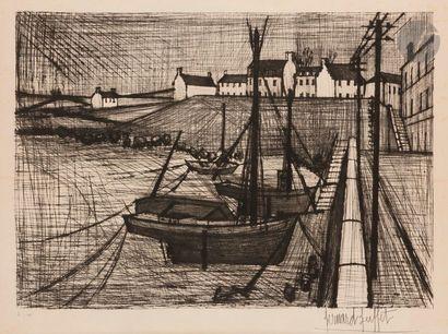 Bernard BUFFET (1928-1999) Port breton, 1954...