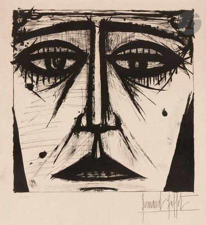 Bernard BUFFET (1928-1999) Visage, 1958 Lithographie....