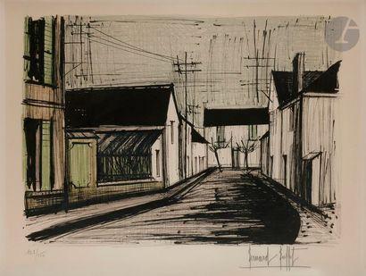 Bernard BUFFET (1928-1999) Rue à Plurien,...
