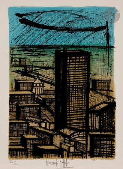 Bernard BUFFET (1928-1999) Le Grand building...