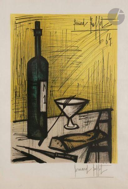 Bernard BUFFET (1928-1999) (d'après) Le Pain et le vin, 1964 Lithographie en couleurs...