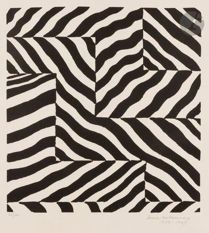 Sonia DELAUNAY-TERK (1885-1979) Noir et blanc,...