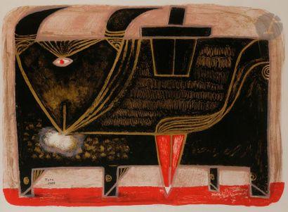 Pierre SZÉKELY (1923-2001) Toro, 1988 Lithographie...
