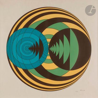 Ronald ABRAM (1938-1999) Composition cinétique,...