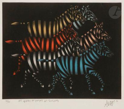 Mario AVATI (1921-2009) Des zèbres de toutes...