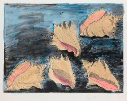 Jim DINE (né en 1935) Five Shells (Cinq coquillages),...