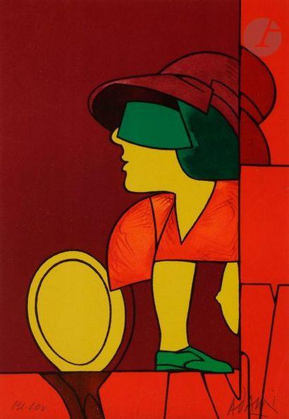 Valerio ADAMI [italien] (né en 1935) Femme...
