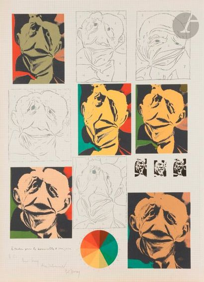 Pol BURY [belge] (1922-2005) Étude pour «Les...
