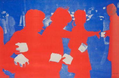 Gérard FROMANGER (né en 1939) Quatre figures...