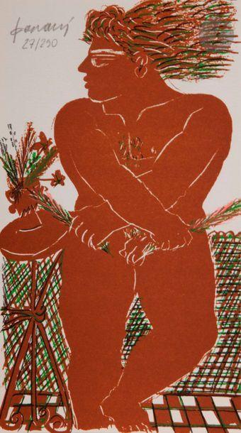 Alexandre FASSIANOS [grec] (né en 1935) L'Envie du lézard, 1994 Un volume broché...