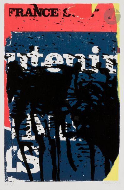 Jacques VILLEGLÉ (né en 1926) Affiche lacérée...