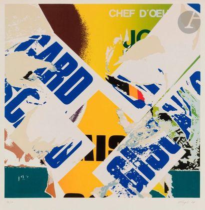 Jacques VILLEGLÉ (né en 1926) Affiche lacérée,...