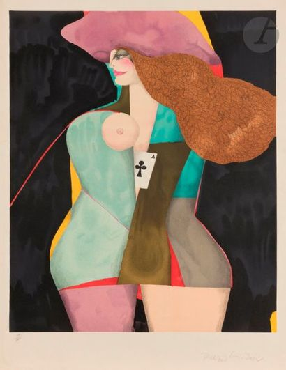 Richard LINDNER [allemand] (1901-1978) Femme...