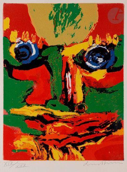 Bengt LINDSTRÖM [suédois] (1925-2008) Visage...