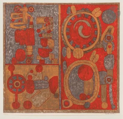 Pierre COURTIN (1921-2012) Paul six ans Lithographie...