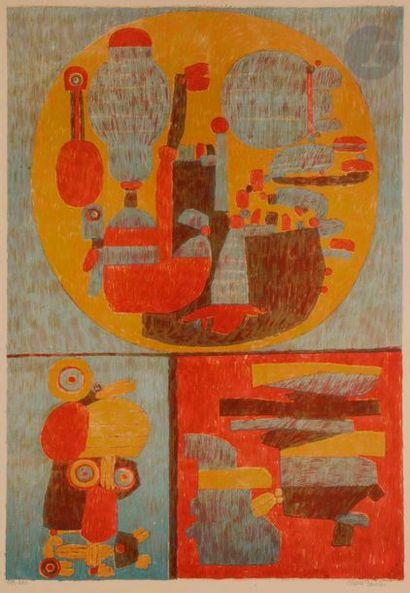Pierre COURTIN (1921-2012) Sans pâturage,...