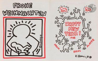 Keith HARING [américain] (1958-1990) Carte...
