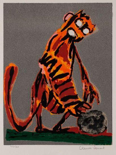 Claude VENARD (1913-1999) Tigre debout (pl....