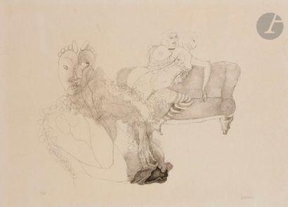 Hans BELLMER (1902-1975) Le Divan Lithographie....