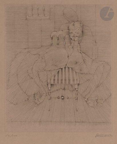 Hans BELLMER (1902-1975) La Chaise Napoléon...