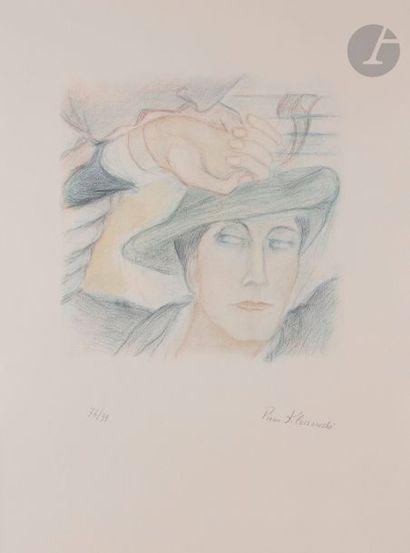Pierre KLOSSOWSKI (1905-2001) Tête de Roberte, 1989 Photolithographie en couleurs....