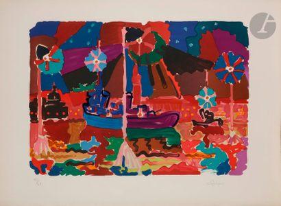 Charles LAPICQUE (1898-1988) Bassin de Saint...
