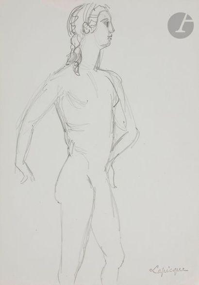 Charles LAPICQUE (1898-1988) Chevaux, cavaliers...