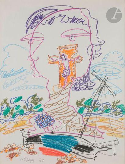 Charles LAPICQUE (1898-1988) Le Signe que...