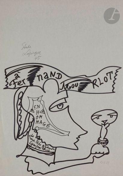 Charles LAPICQUE (1898-1988) Hommage à Fernand...