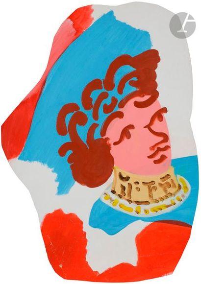 Charles LAPICQUE (1898-1988) Femme au chapeau...
