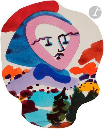 Charles LAPICQUE (1898-1988) Promenade en...