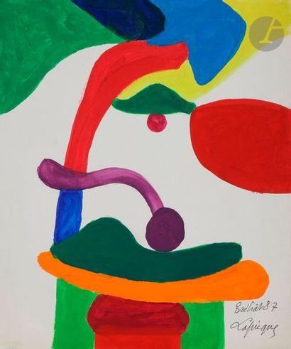 Charles LAPICQUE (1898-1988) Visage, 1987...