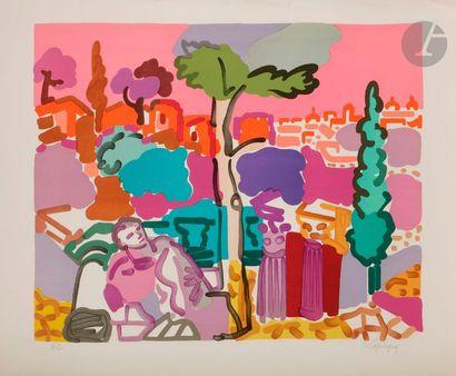 Charles LAPICQUE (1898-1988) Ruine sur le...