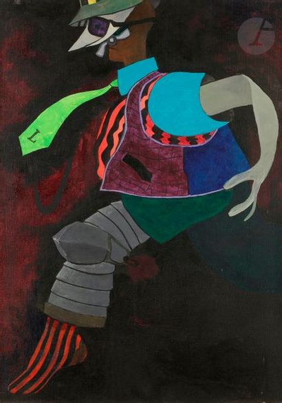Juan Carlos AZNAR (1937-2003) La Cravate...