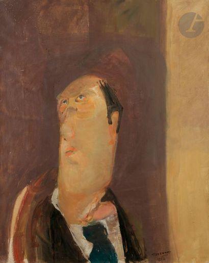 Gérard TISSERAND (1934-2010) Portrait, 1962...