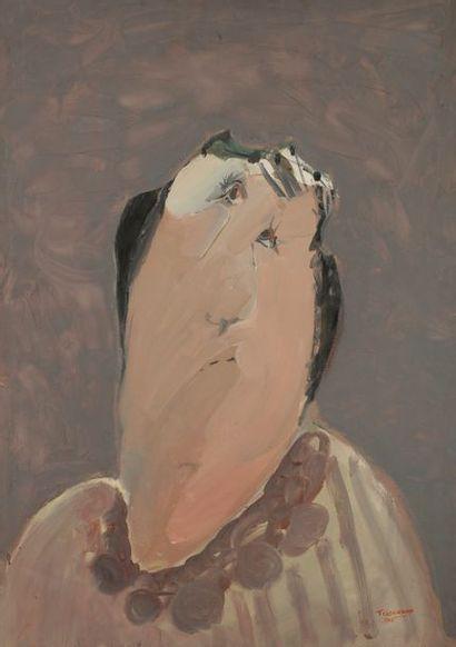 Gérard TISSERAND (1934-2010) Portrait, 1963...