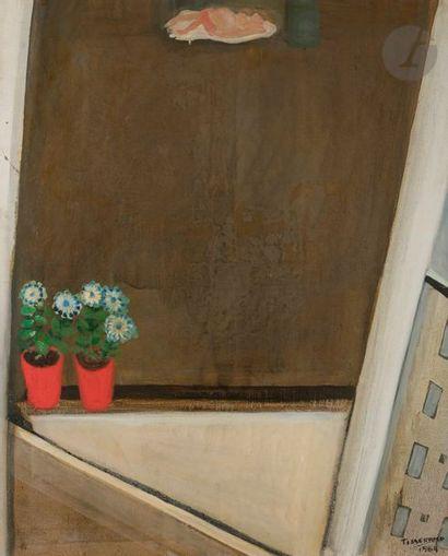 Gérard TISSERAND (1934-2010) Nu à la fenêtre,...