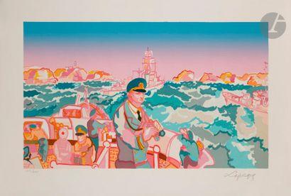 Charles LAPICQUE (1898-1988) Manœuvres en...