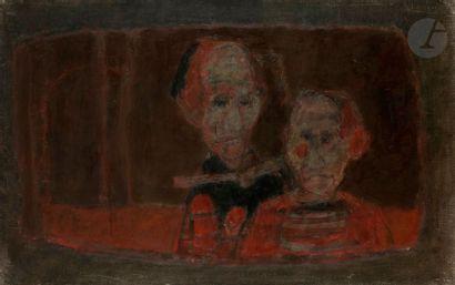 Paul RAMBIÉ (né en 1919) Deux personnages,...